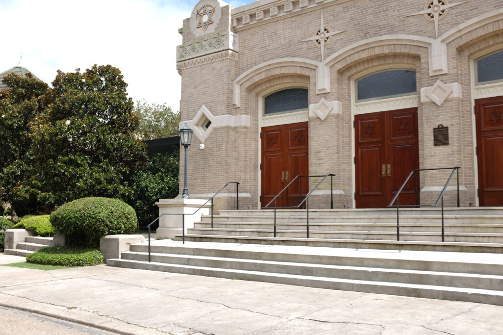 church steps in the city of new orleans louisiana