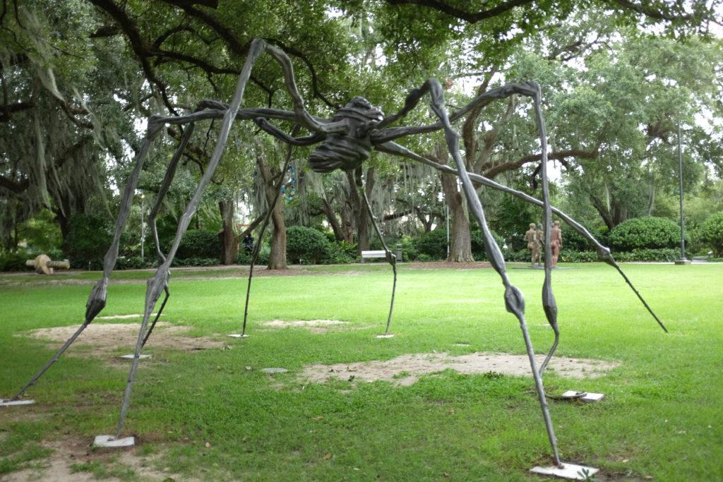 spider statue in Sydney and Walda Besthoff Sculpture Garden louisiana