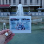 polaroid of fountain at new orleans waterfront