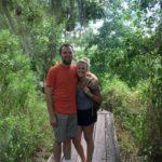 exploring boardwalk through the new orleans bayou