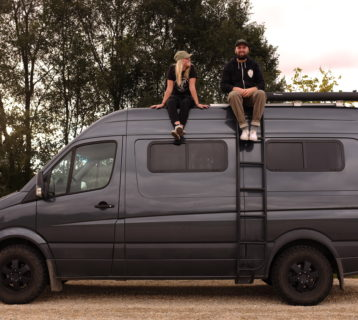 so we bought a van posed on top of sprinter conversion they live in