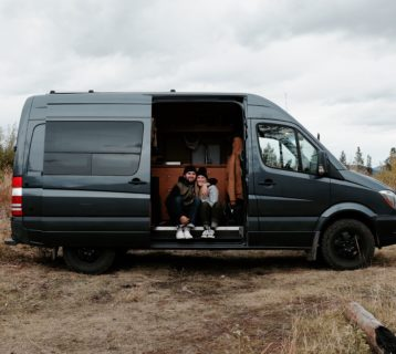 so we bought a van primitive camping in wyoming winter