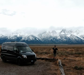 so we bought a van outside of grand teton national park in wyoming