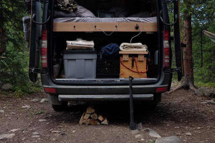 back of so we bought a van primitive camping in colorado