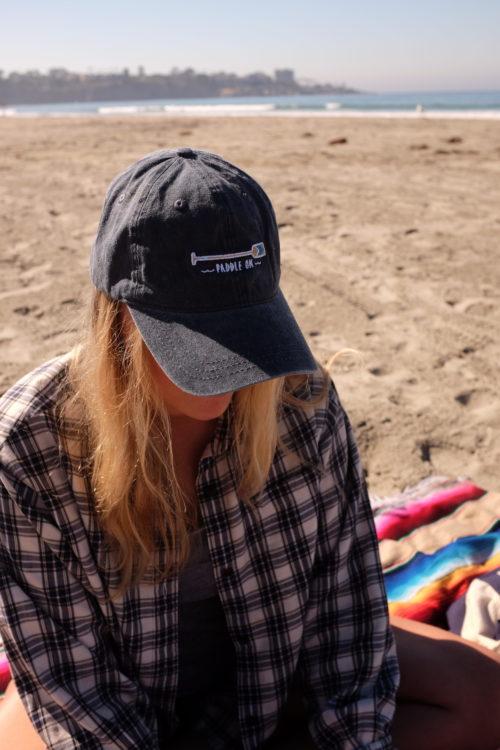 so we bought a van sporting cowbucker dad hat in la jolla california