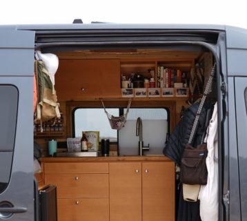 so we bought a van camper conversion kitchen