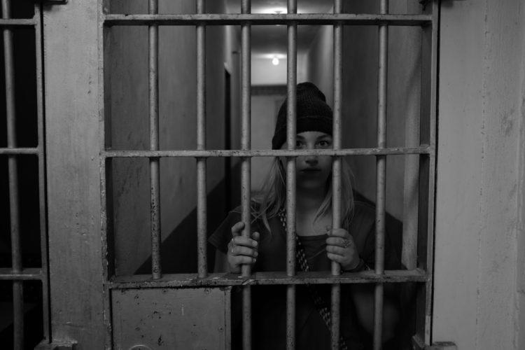 hiding behind bars at the idaho penitentiary in boise idaho