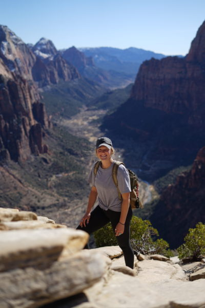 hiking angels rest in Zion National Park, Utah