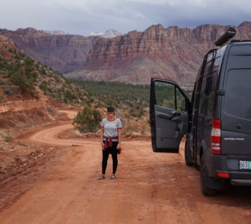 so we bought a van parked in Zion National Park, Utah